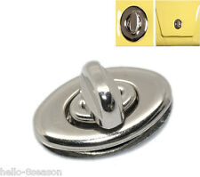 "10 Sets Hot Silver Tone Purse Twist Turn Lock 3.5x3.3cm(1 3/8""x1 2/8"")"
