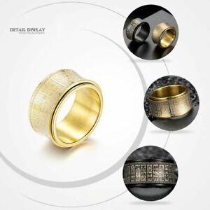 Men's Buddhist Spinner Ring represents health, wealth & peace, UK Seller, BNWT