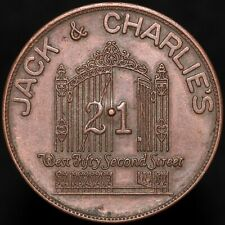 More details for jack & charlie's 21 club 'all right you pay' spinner token | tokens | km coins