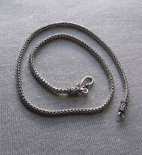 LOVELY SILVER BALINESE WEAVE CHAIN