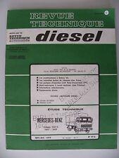 revue technique automobile DIESEL camion MERCEDES-BENZ n° 99 D