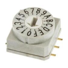 1 x Wurth Elektronik 428521320816 Rotary Switch 10 x 10mm 16 Grigio POS