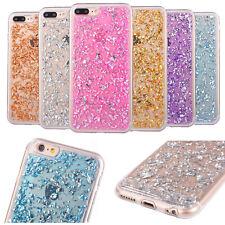 Silikon Schutz Für iPhone 5S SE 6S 7 Plus Hülle Cover Case Glitzer Bumper Etui