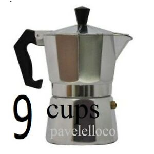 Stove Top Espresso  Coffee Maker pot Cappuccino Latte 9 Cups Cafetera Cubana