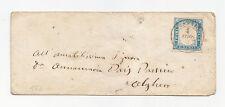 Y450-SARDEGNA IV EMISSIONE 20 CENT COBALTO-LETETRA DA SASSARI AD ALGHERO 1856