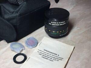 Fisheye Zenitar M 2,8/16 mm lens M/42 for Nikon.Canon.Zenit.Pentax № 080079