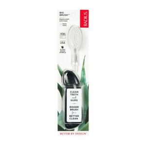 Radius Big Brush Right-Hand Toothbrush with Replaceable Head- Assorted Colours