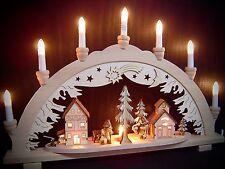 Arc à lumière à bougies 3D gens de la forêt Bûcherons 57x38 cm 10 lumières 10172