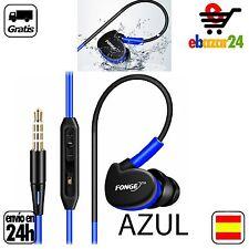 Auriculares AZULES deportivos Impermeables agua sudor Running Micrófono Movil Ip
