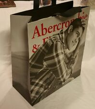 Authentic Abercrombie & Fitch THICK Paper Shopping Gift Bag *MALE ON COVER 14x15