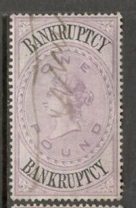 Queen Victoria  - £1. Lilac - Bankruptcy - Used