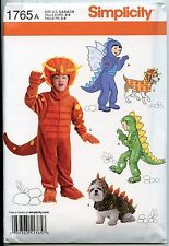 Dinosaur Costumes for Kids & their Dogs - Simplicity Sewing Pattern - Sizes 3-8