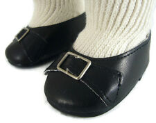 """Colonial Buckle Pilgrim Shoes for 18"""" American Girl Felicity Doll Clothes"""