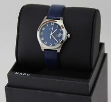 NEW AUTHENTIC MARC JACOBS NAVY BLUE LEATHER SILVER WOMEN'S LADIES MJ8671 WATCH