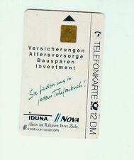 Telefonkarte 12 DM  IDUNA NOVA