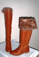 SOFT LEATHER LUCKY BRAND KNEE HIGH BOOTS W FAUX FUR CUFF SIZE 6