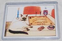Ouija Board Siamese Cat Tarot Wicca Card Mini Painting Art Card 2010 Signed