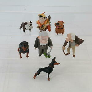 Disney Pixar 'UP' Rare Toy Figures Russell Charles Muntz Carl And 4 Dogs