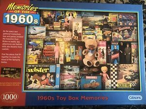 Gibsons Memories of the 1960s Toy Box Memories 1000 piece - Complete