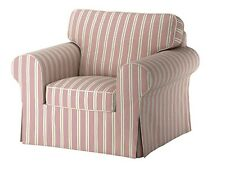 IKEA Ektorp Chair Slipcover Mobacka Red And Beige Striped Chair Cover - New