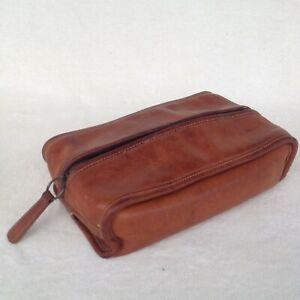 Vintage Coach Toiletry Bag Dopp Kit Shaving Kit British Tan