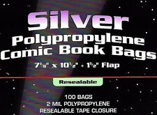 300 Silver Resealable Bags and Boards - BCW Quality Archival Comic Book Storage