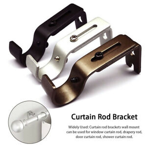 Curtain Rod Bracket Wall Mounted Living Room Heavy Duty Adjustable Length Home