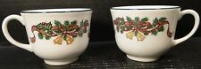 Johnson Brothers Victorian Christmas England Tea Cups Set of 2 EXCELLENT