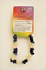 Howlita Turquesa y Madreperla pulsera de mineral, Howlite Turquoise bracelet