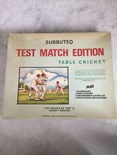 Subbuteo vintage RARE TEST MATCH Edition table Cricket Set Boxed c1970s