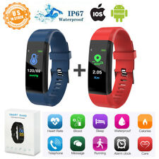 Fitness Band Activity Tracker Smart Watch Bracelet Pedometer Calorie Counter 2Pc