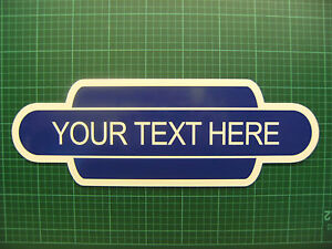Garden Railway Station sign in a totem style. Great gift idea & free P&P 410mm