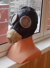 1986 Original soviet russian gas mask  black rubber.
