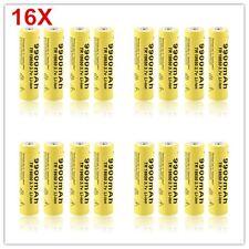 16X 3.7V 18650 9900mah Li-ion Rechargeable Battery For LED Flashlight Torch FE