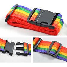 Travelling Adjustable Backpack Bag Luggage Suitcase Straps Baggage Rainbow Belt