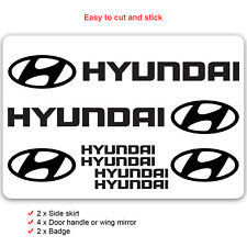 Hyundai Car Decal Vinyl Stickers for i30 i20 i10 Kona Ionic Logo