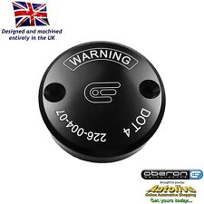 Oberon Performance Black Ducati Front Brake Reservoir Cap RES-0004-BLACK