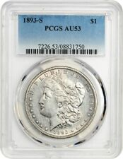 1893-S $1 PCGS AU53 - Key Date Morgan Rarity - Morgan Silver Dollar