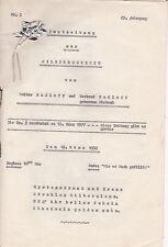 Alte Hochzeitszeitung 1952 Berlin Radloff/Pietsch Silberne Hochzeit Dokument