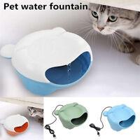 AU_ KF_ HK- Portable Pet Water Drinking Fountain Automatic USB Dispenser Dog Cat