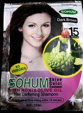 Dark brown natural herbal shampoo hair color treatment no ammonia 20ml