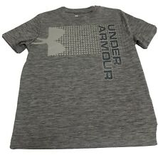 Under Armour Loose Fit Heat Gear Gray T-shirt Boys Youth Large
