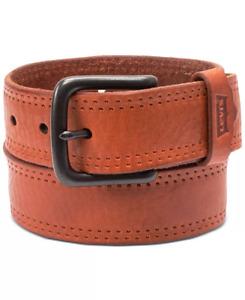 Levi's Men's Logo Leather Belt Tan S, L, XL