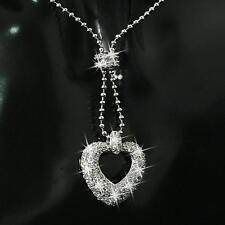 Damen Halskette Herz Anhänger Zirkonia 750er Weißgold 18Karat vergoldet A1040S