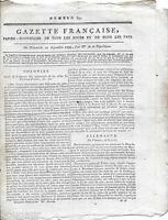 Rare Journal Révolution GAZETTE FRANCAISE Papier Nouvelles Pays an II 1793 N°631