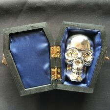 """1 KILO YPS 3D 999 Fine Solid Silver SKULL """"Yeager's Poured Silver"""" Hand poured"""