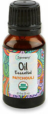 Certified Organic Patchouli Essential Oil, Zennery, 0.5 oz