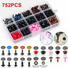 752pc Safety Doll Eyes Triangle Noses for Teddy Bear Animal Colorful Plastic Toy