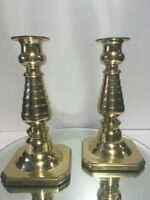 LG. VTG. Solid Brass Candlestick Candle Holder Beehive Design Style