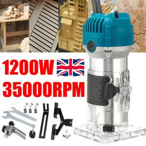"""Electric Hand Trimmer Palm Router Laminate Wood Laminator 1200W 220V 1/4"""" 6mm UK"""